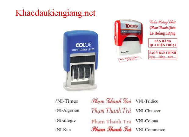 Khắc dấu công ty tại Kiên Lương